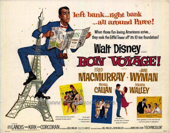 bon voyage disney movie poster 1962 disney movie posters in