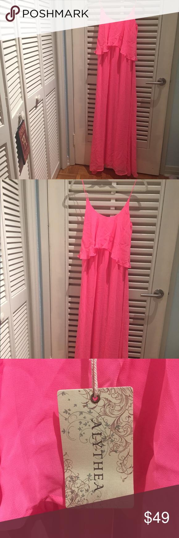 Hot pink maxi dress  Hot pink goddess maxi dress  Pink maxi Hot pink and Maxi dresses
