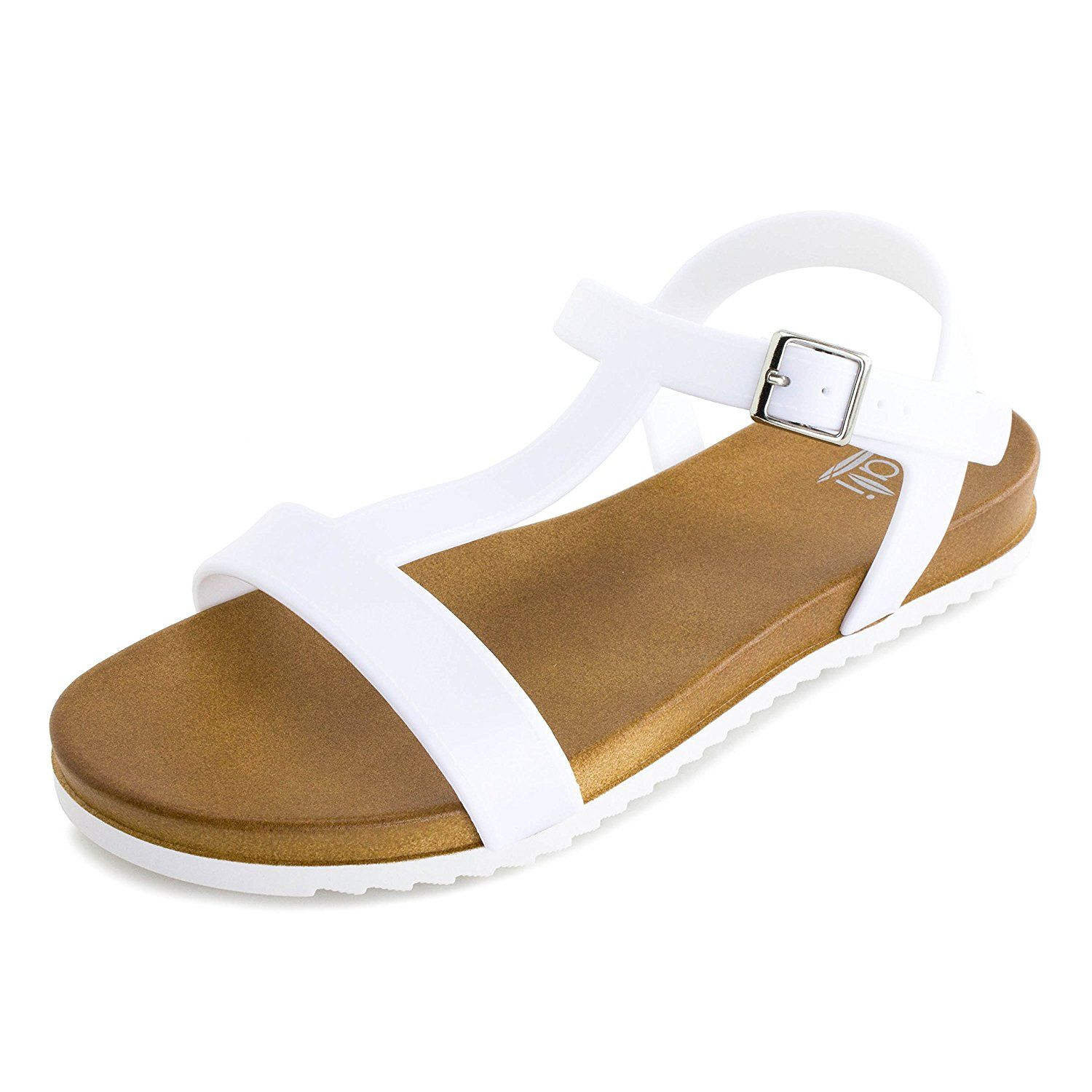 1aa49a5152 Kali Womens Open Toe Gladiator Gold Strap Flat Sandals (Adults) * Discover  this special product, click the image : Gladiator sandals