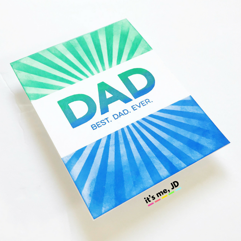 Stampin Up Handmade HAPPY FATHERS DAY AWESOME DAD card kit of 4 made w// PTI