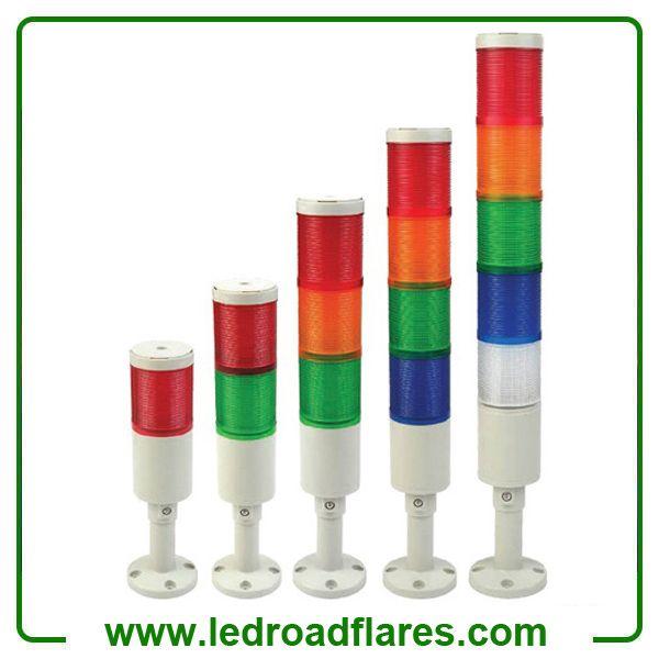 110v 220v 12v 24v Led Stacking Light Beacon With Buzzer Industrial Signal Alarm Light Tower Light Led Strobe Led Color