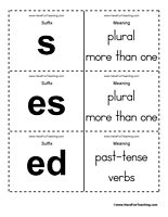 Suffix Flash Cards