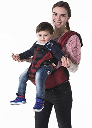 JerryBaby 3 in 1 Carrier for Toddler Baby Carrier Wine Red