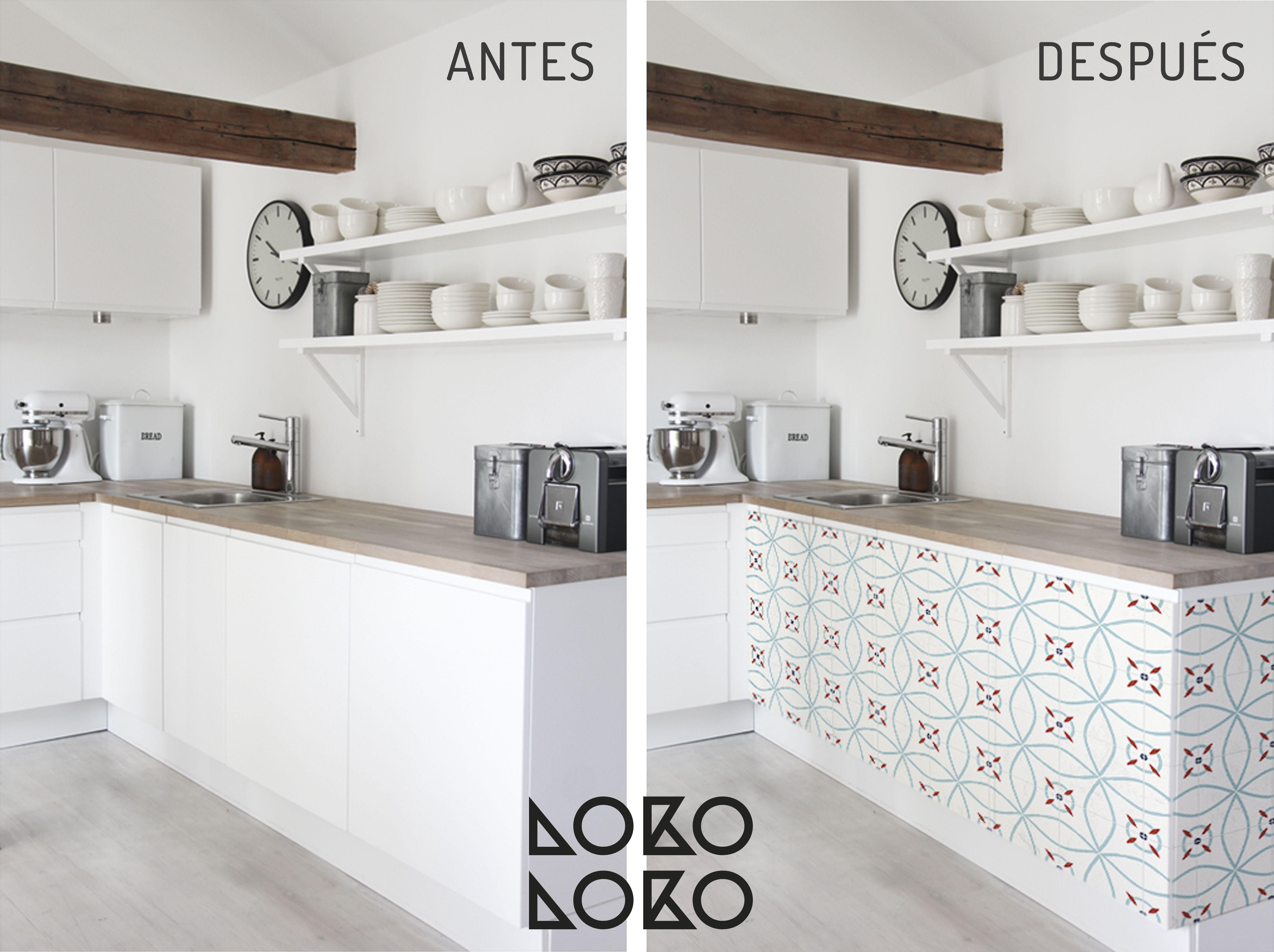 10 ideas con vinilo para transformar cocinas blancas | Renovando con ...