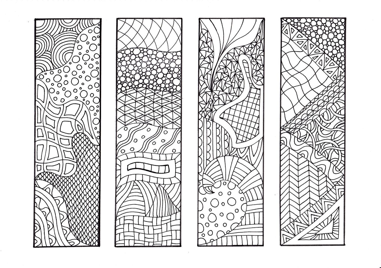Bookmarks to color adults - Zendoodle Bookmarks Diy Zentangle Inspired Printable Coloring Digital Download Sheet 1 4 00