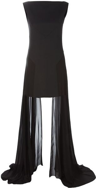 Wool and Chiffon Dress - Lyst GARETH PUGH