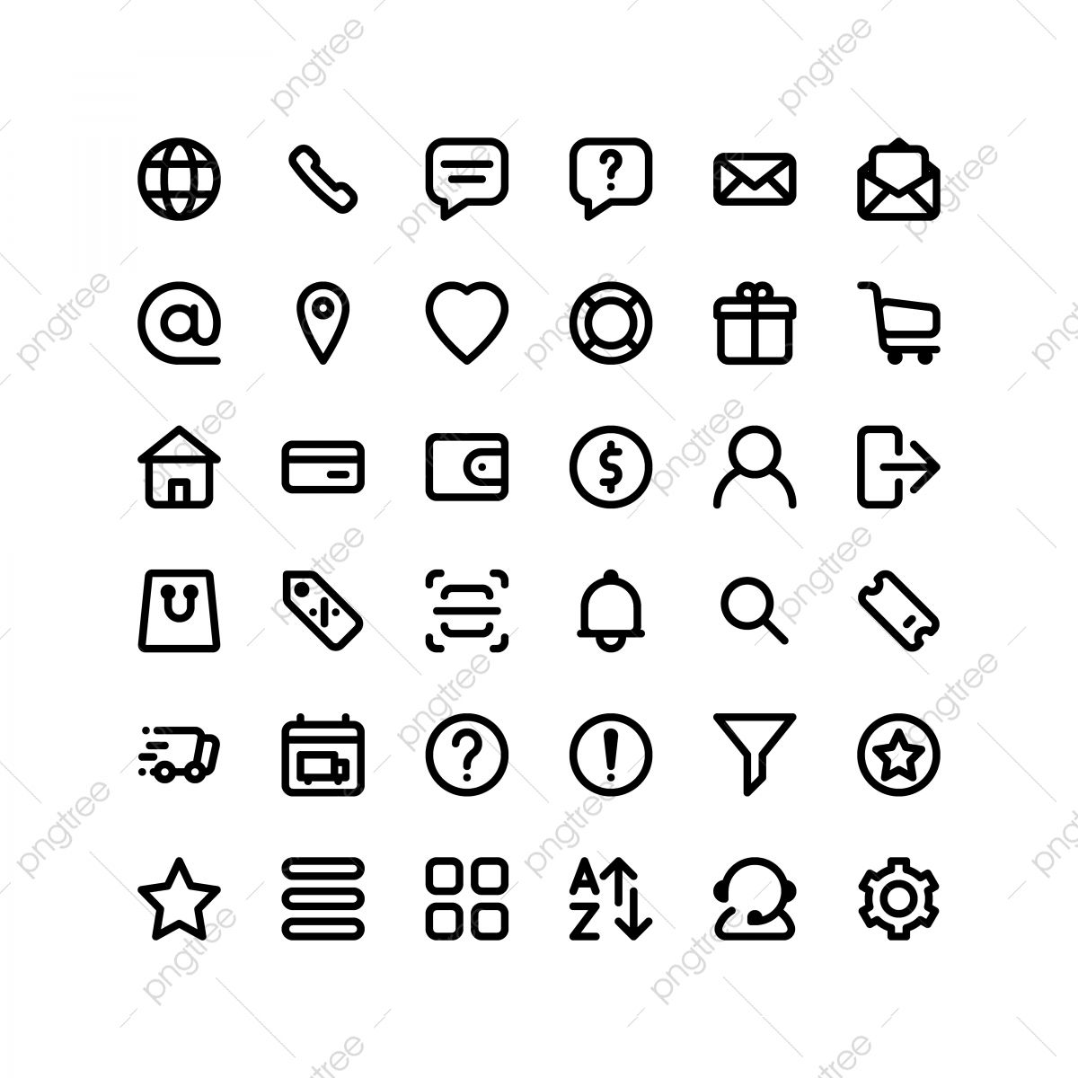 Set Of Ecommerce Icons 36 Icons For Web And App Web Icons Icons App Icons Png And Vector With Transparent Background For Free Download Buy Icon App Icon Mobile Icon