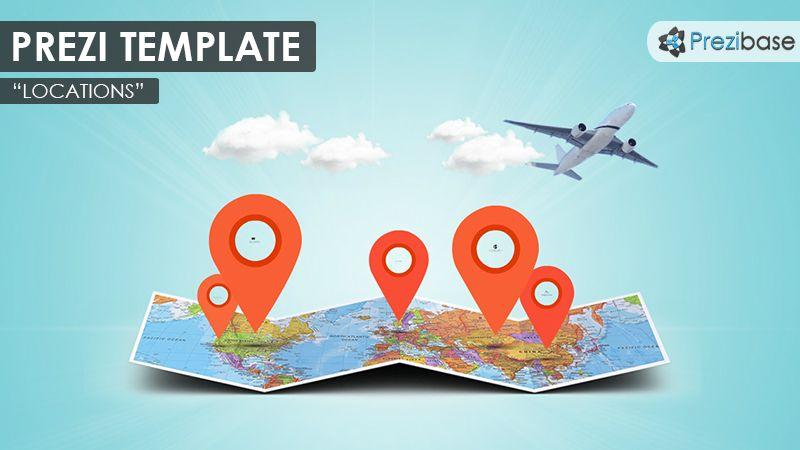 prezi templates for teachers - prezi template with a 3d folded world map clouds map