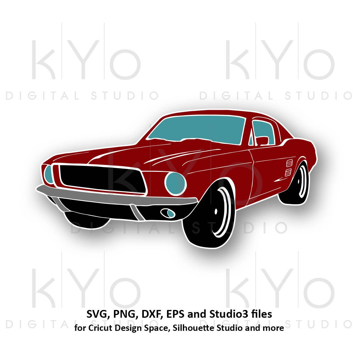 Classic Ford Mustang Svg Png Mustang Car Silhouette Svg Mustang