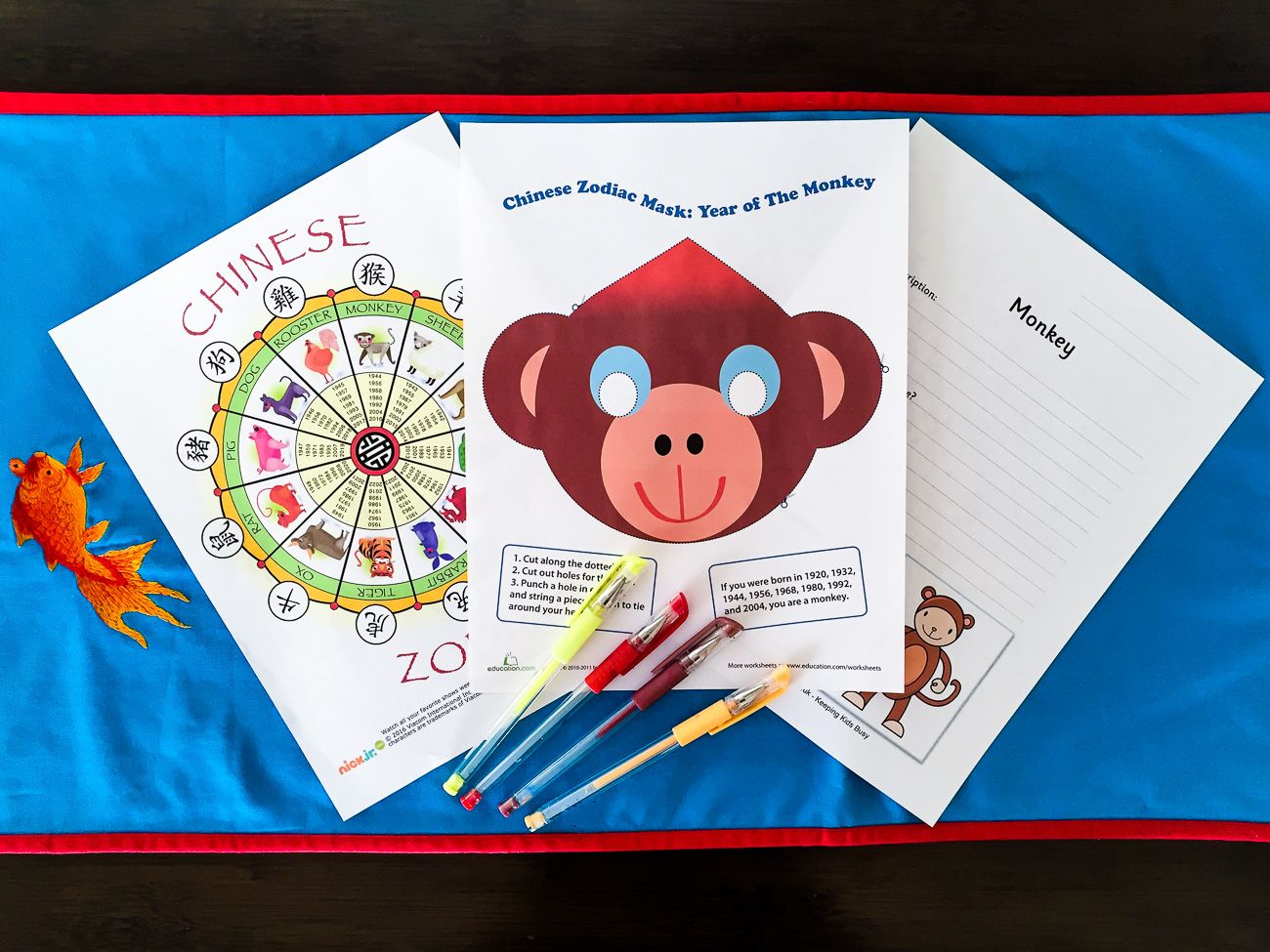 9 free chinese new year printables for kids - Chinese New Year 2004