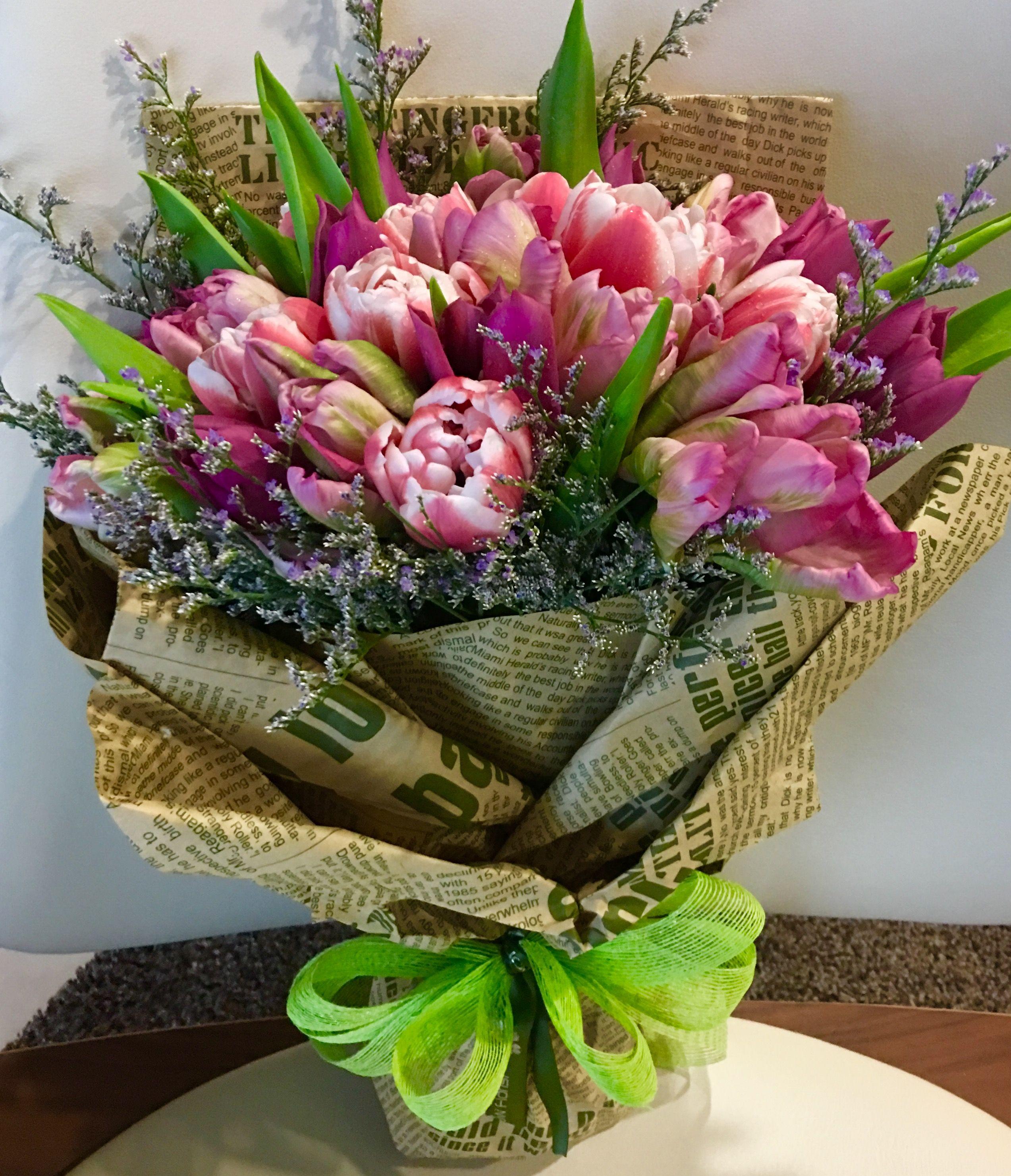 Tulips Hand Bouquet Viragcsokrok Es Viragok