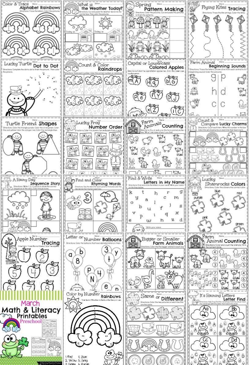 March Preschool Worksheets Planning Playtime Preschool Worksheets March Preschool Worksheets Alphabet Activities Preschool [ 1192 x 814 Pixel ]