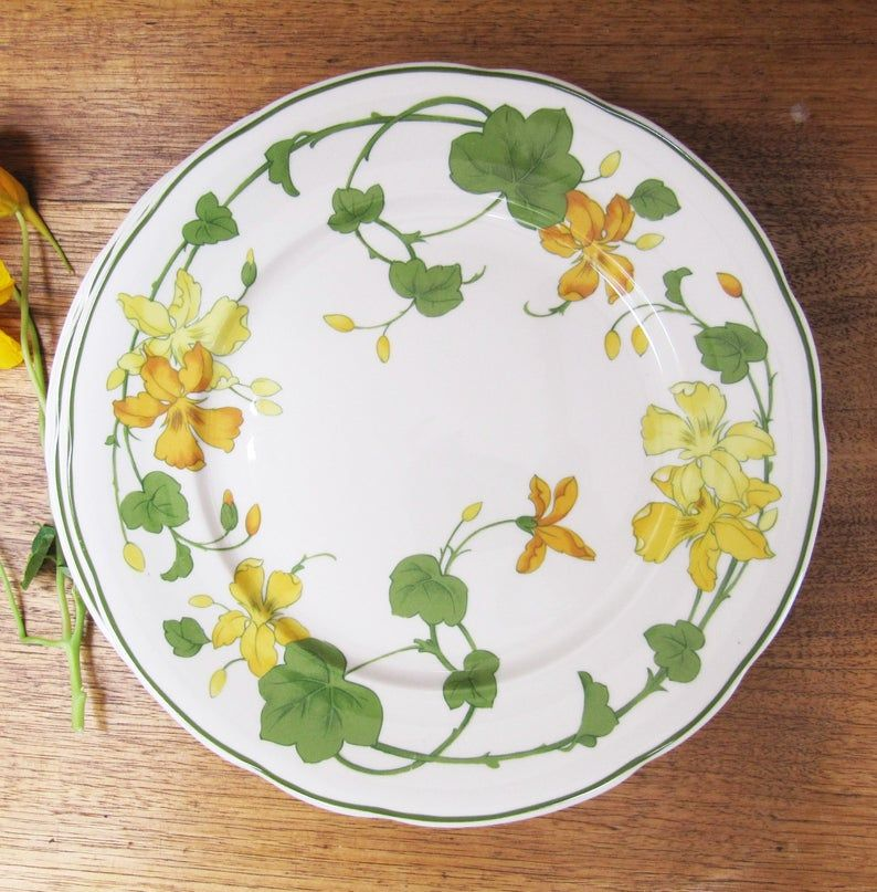 Vintage Villeroy And Boch Geranium Side Plates Five Bread Etsy