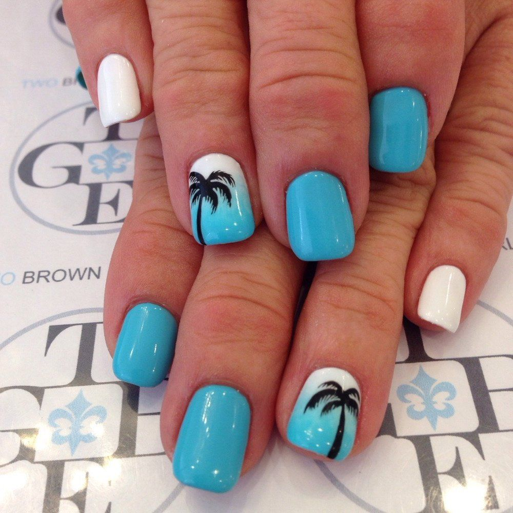 Pin By ♛ Noelle ♛ On Nails In 2019 Nail Designs Nails Beach Themed Nails