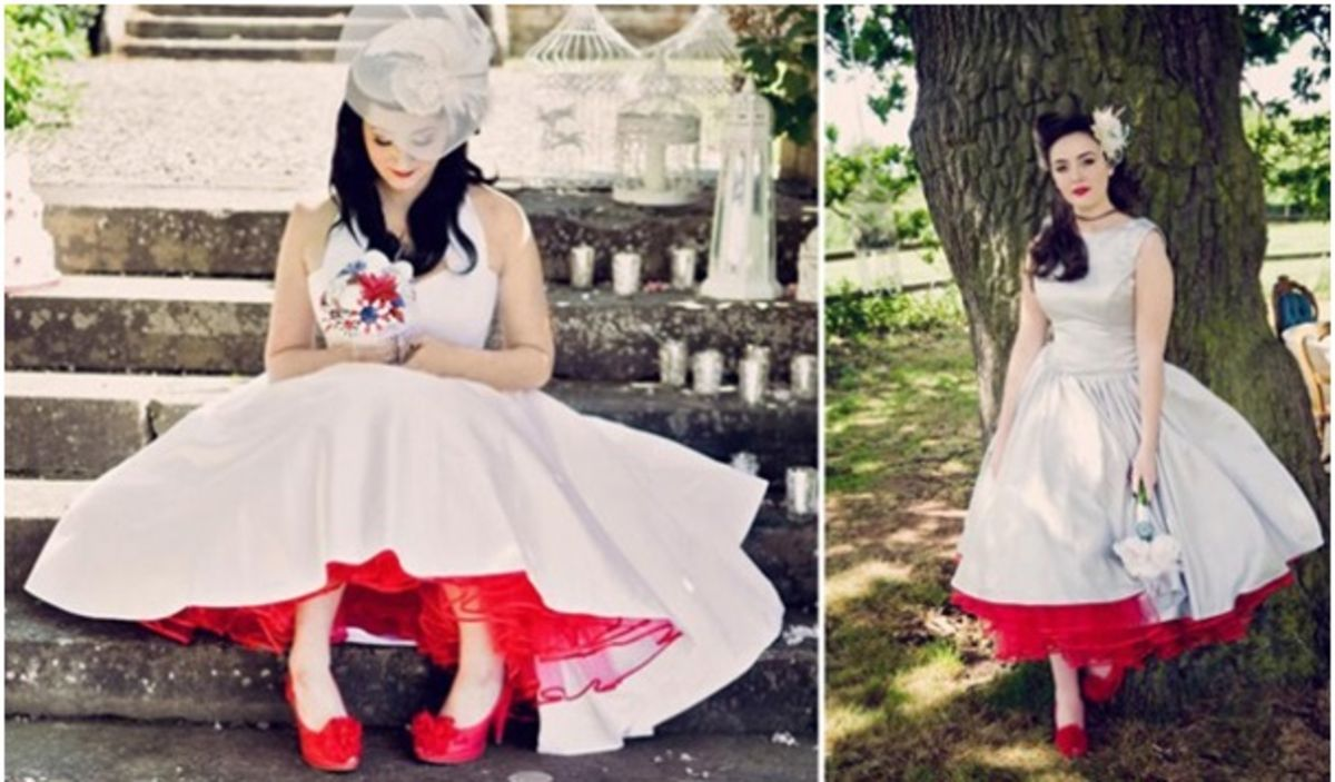 Wedding gown with red accents  Colors in Wedding Dress Click on image for more ideas  bridal