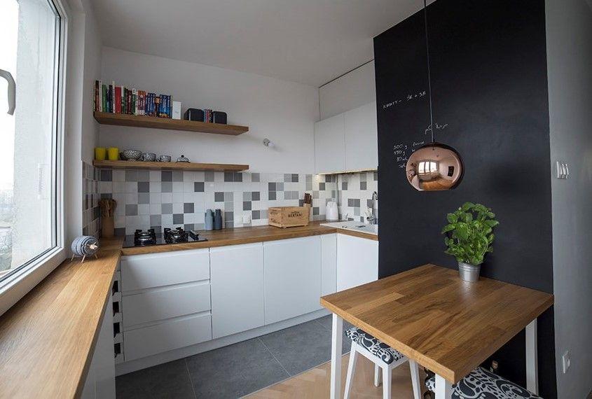 Metamorfoza 1 Kuchnia Lazienka Przedpokoj Mieszkanie W Bloku Home Small Kitchen Kitchen Space