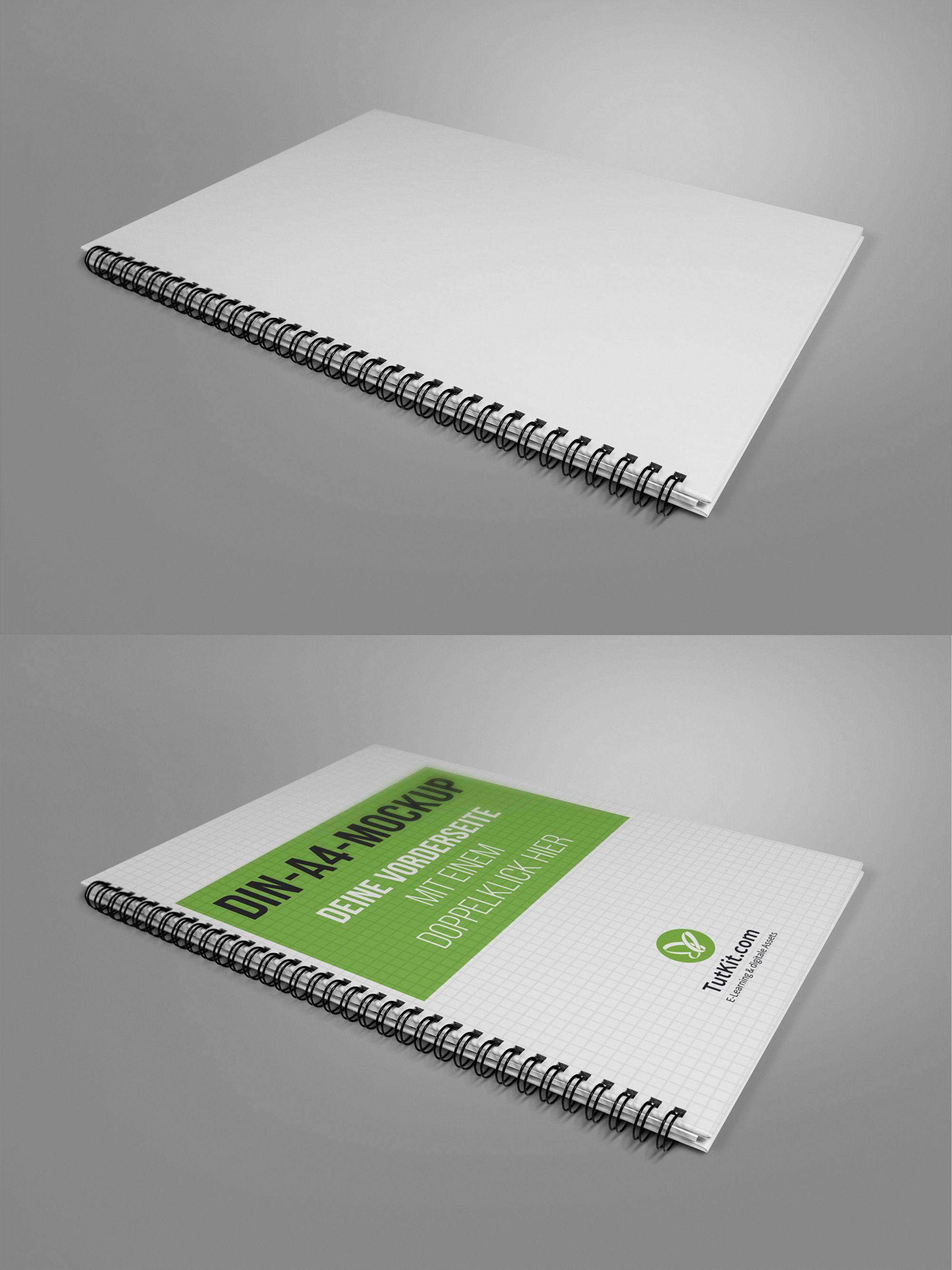Mockups Für Hardcover Broschüren Im Hochformat Mit