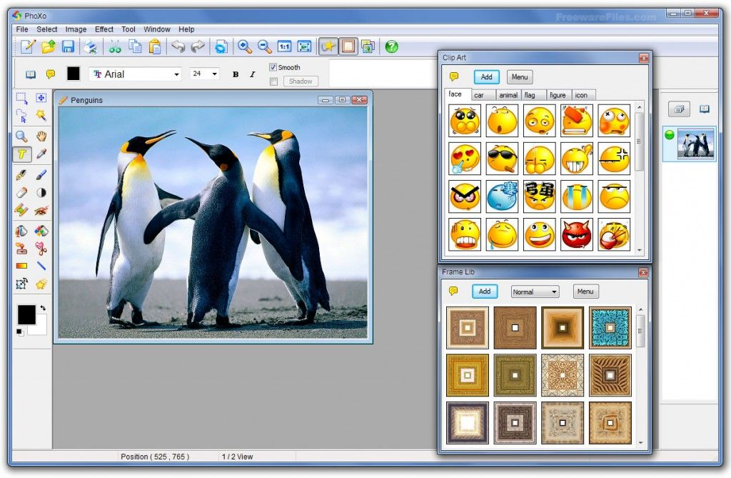 A Free And Powerful Image Editing Software…PhoXo is a tiny