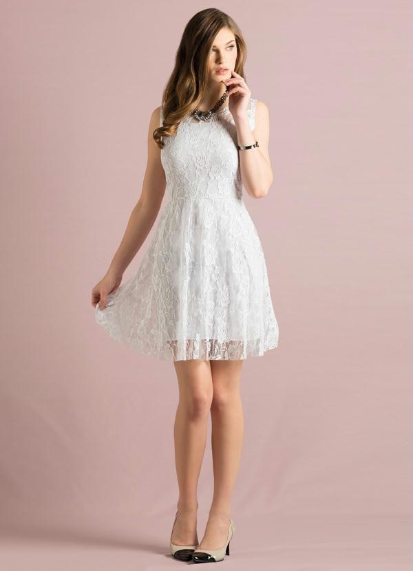2742413b3 Vestido Renda Branco - Quintess | Moda para Kenya | Vestido branco ...