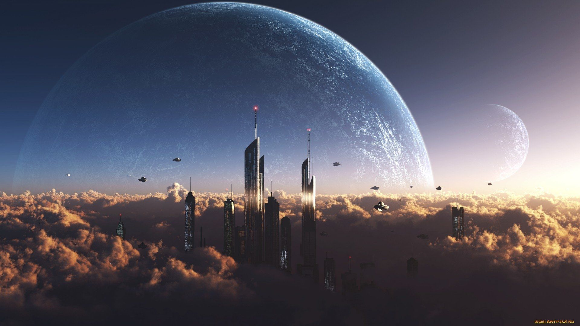 1920x1080 City Wallpaper Background Image View Download Comment And Rate Wallpaper Abyss In 2020 Sci Fi City Sci Fi Wallpaper Background Images
