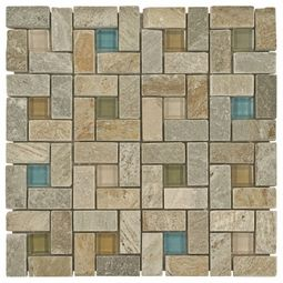 Decorative Stone Tile Villa Real Decorative Mosaic Glass & Stone Tile 8Mm This Has Cool