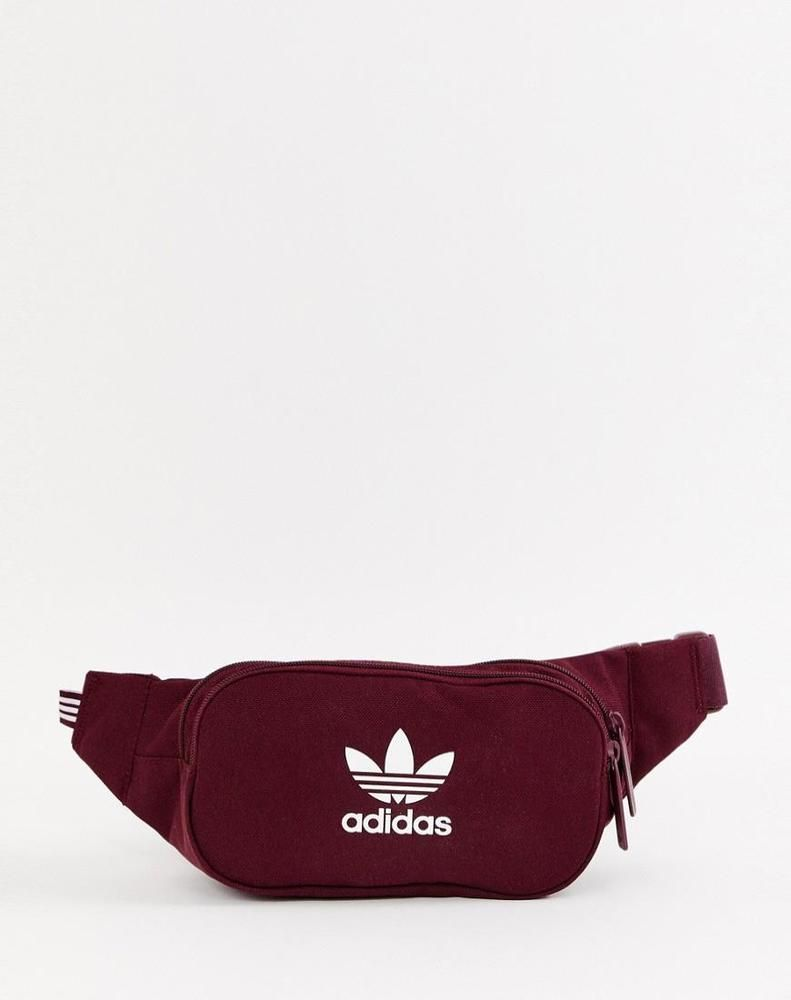 6edde1e885 adidas Originals Trefoil Fanny Pack in Burgundy