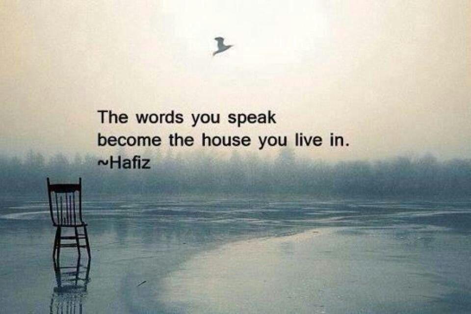 Speak carefully.