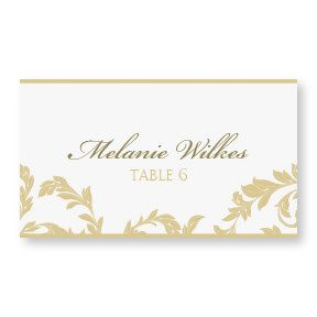 Escort Card Template DOWNLOAD INSTANTLY Flourish Champagne - Wedding place cards template for microsoft word