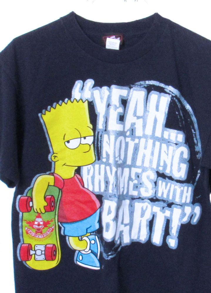 837ae306cef Bart Simpson T-Shirt Yeah Nothing Rhymes With Bart! Boys XL  TheSimpsons   TShirt  Everyday