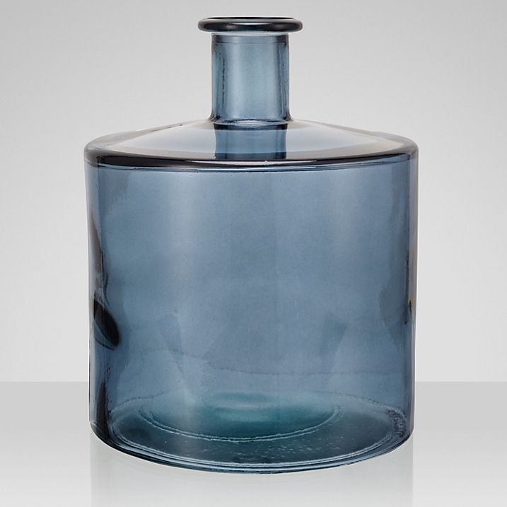 Buy John Lewis Croft Collection Recycled Glass Vase Blue 26cm