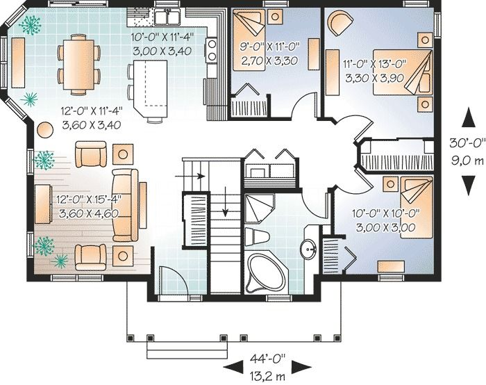 Plan 21786dr 3 Bed House Plan With Solarium Like Kitchen Country Style House Plans House Plans Bedroom House Plans