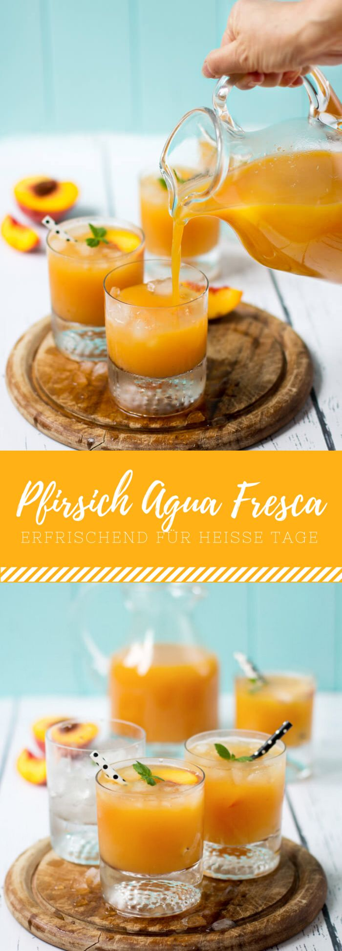 Pfirsich Agua Fresca   Rezept   Food and Drinks   Pinterest ...