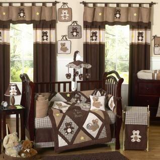 Teddy Bear Chocolate Bedding By Sweet Jojo Designs Teddy Bear Baby