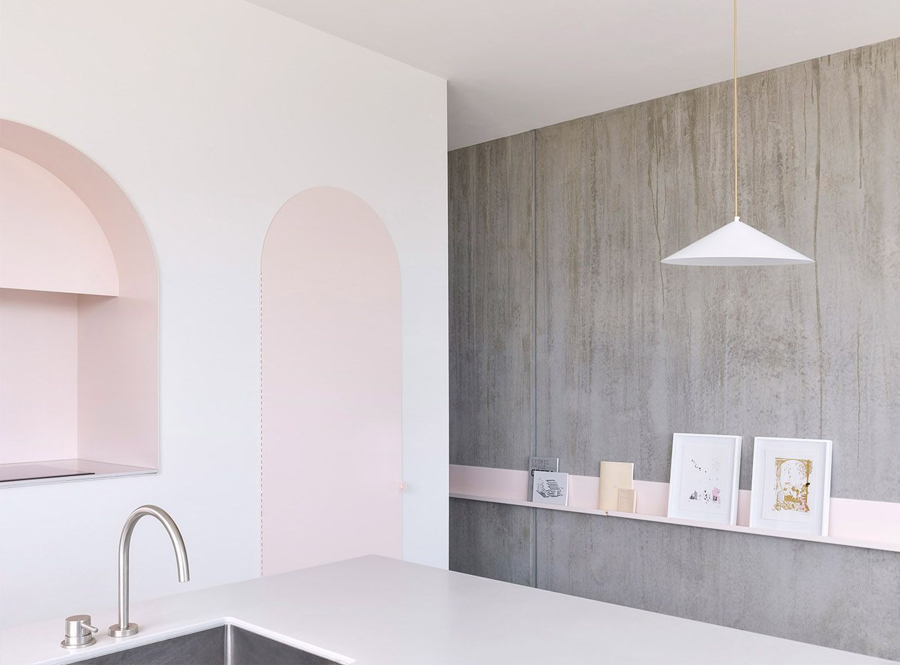 Joyous pastel colored interior for australian home by boardgrove
