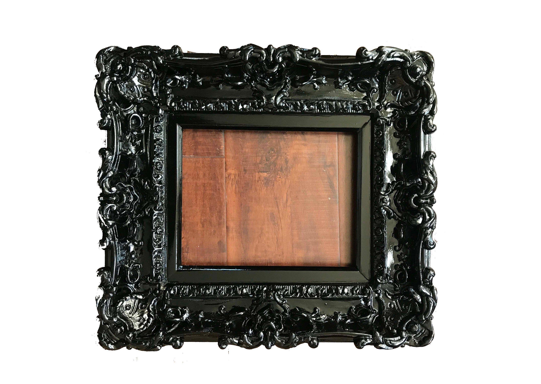 8x10 Black Frame Baroque Frame Wedding Frames Wall Picture Etsy Wedding Frame Wall Baroque Frames Picture Frame Wall