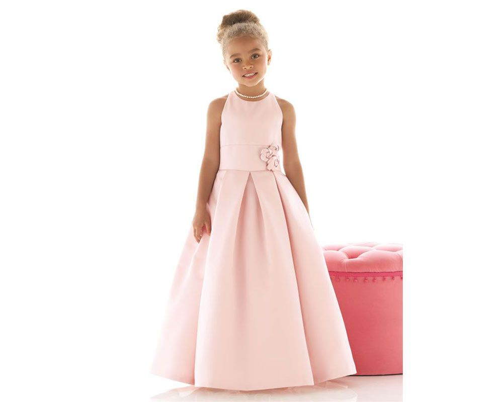 23 flower girl outfits that are fit for a princess flower wedding dessy pink full length flower girl outfit girls dresses ukivory mightylinksfo