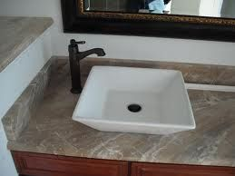 Vessel Sink With Corner Faucet Placement
