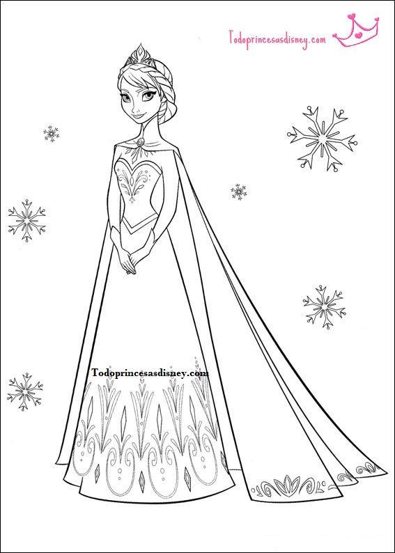 Olaf Coloring Pages Online. Frozen movie free printable coloring pages  Elsa Anna Olaf princesas para pintar frozen Buscar con Google Para colorear