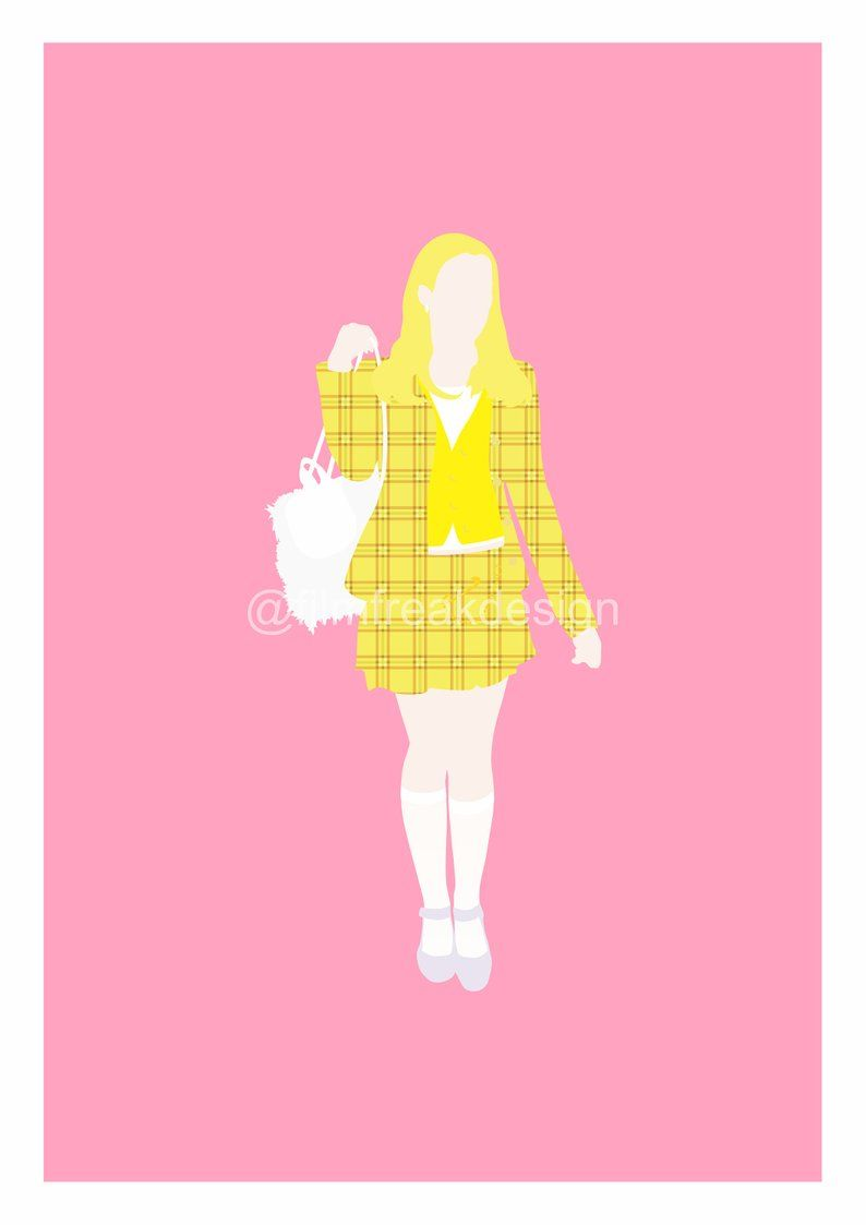 Clueless Movie Poster Cher Horowitz And All Her Looks Etsy Clueless Movie Movie Posters Minimalist Lovely Poster
