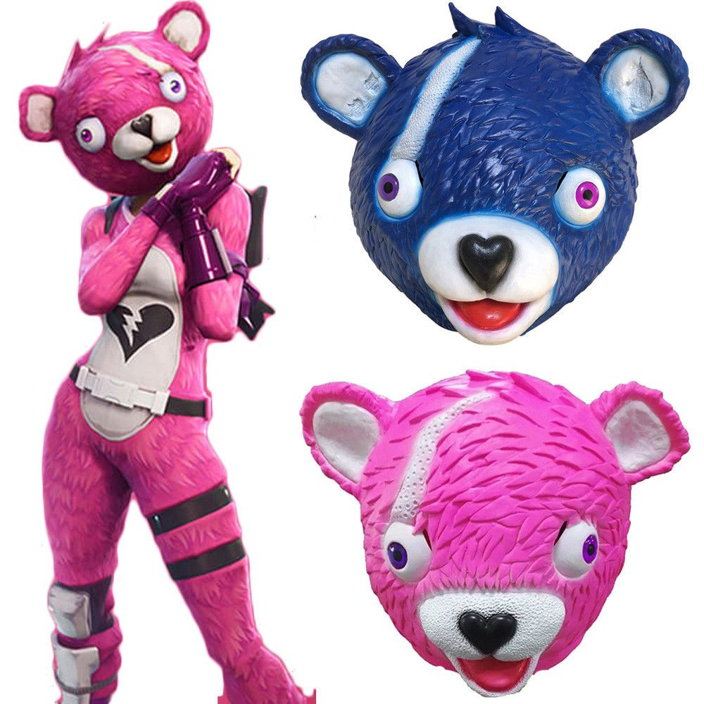Fortnite Cuddle Team Leader Pink Bear Panda Animal Scary Mask