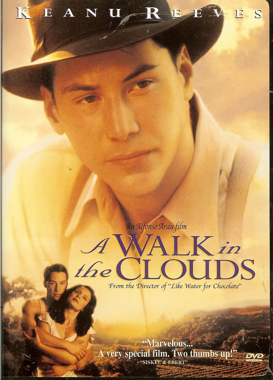 A Walk In The Clouds. After returning from World War II, a young G.I. finds he has little in common with the wife he left behind. Disillusioned, he heads north to work as a travelling salesman where he meets the daughter of a wealthy vineyard owner. On her way home, she is terrified of what her father will do when he learns she is unmarried and pregnant. The young man gallantly offers to help by posing as her husband for one night, unaware that doing so will change both of their lives…