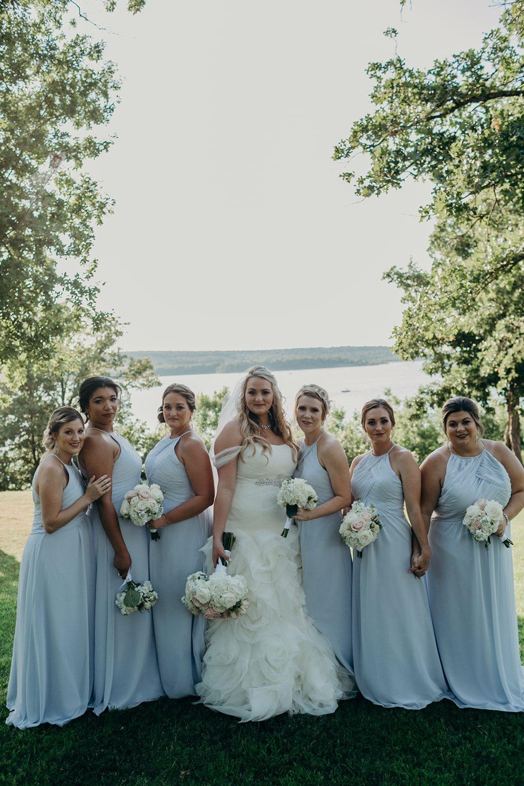 Long Country Blue Bridesmaid Dresses Modern Rustic Bridesmaid