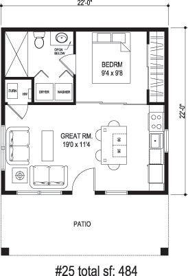 Tiny House Floor Plans Tiny House Plans Guest House Plans
