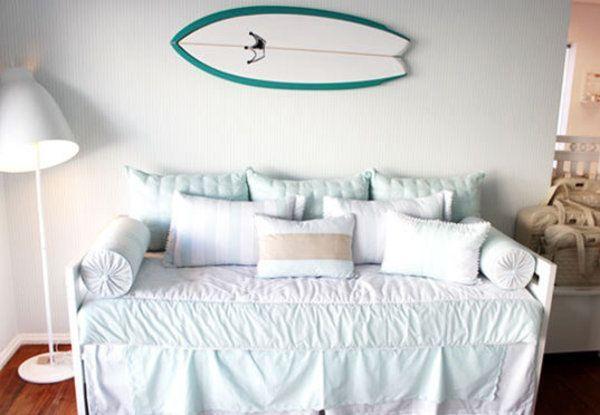 Decoração de quarto de menino  Surf, Quartos e Bebê