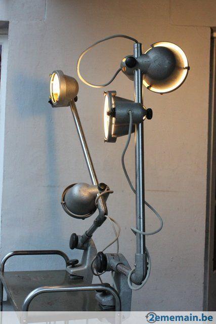 Vintage lampe industrielle a vendre à liège www 2ememain be magasin