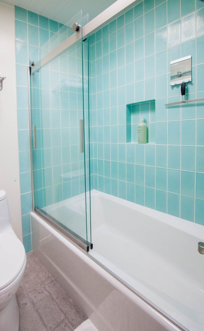 Mt. Ranier Eichler: 4x8 Aqua Bathroom | Installation Gallery ...