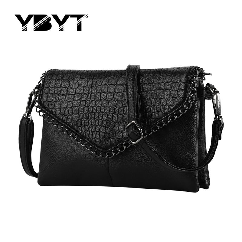 eb5b259a269 YBYT brand 2017 new vintage casual chains alligator women clutch ...