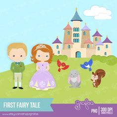 FIRST FAIRY TALE  Digital Clipart  Sofia The First by grafos, $5.00