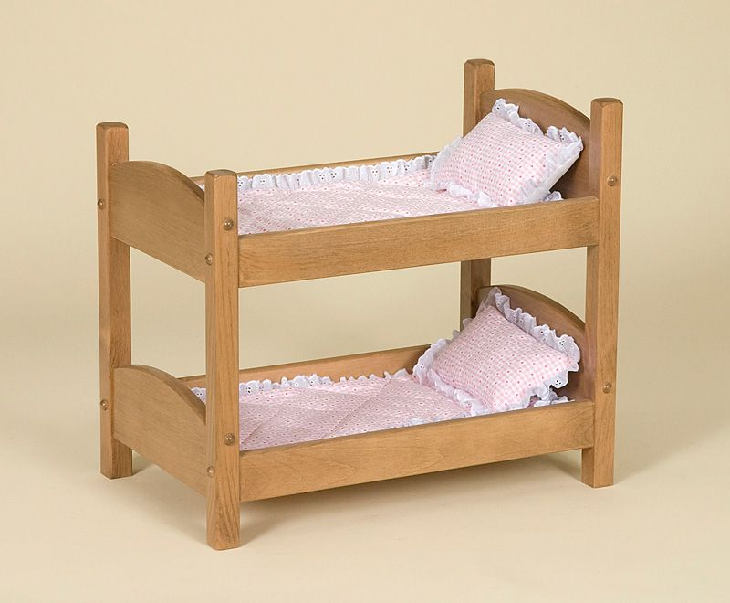 Amish Made Doll Furniture Bunk Bed 1 Doll Bunk Beds