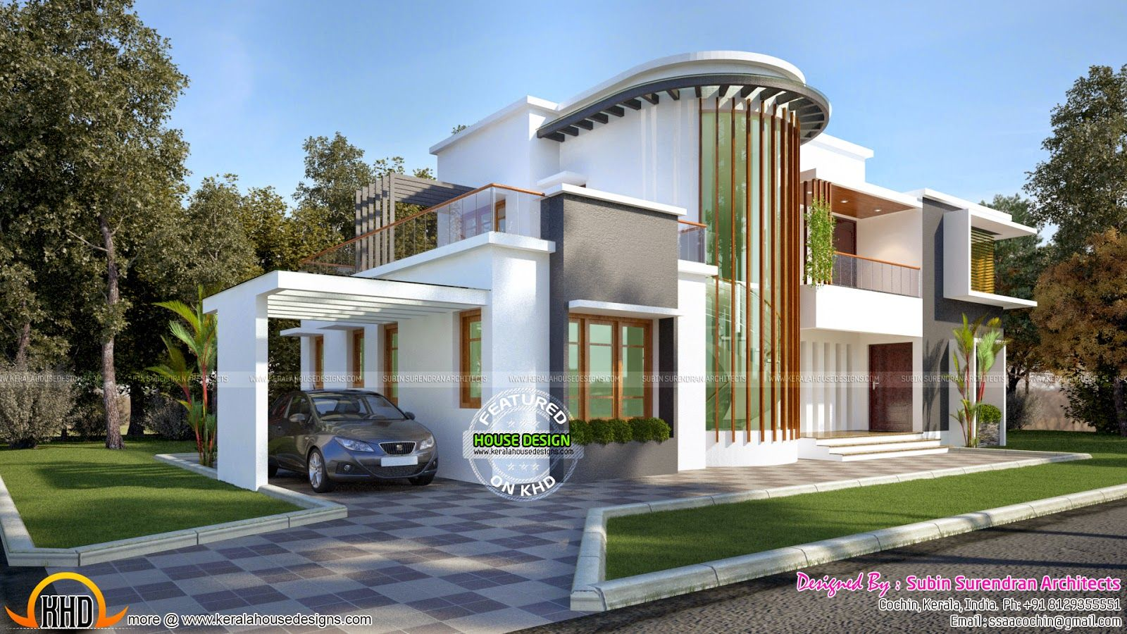 New modern villa plan kerala home design and floor plans